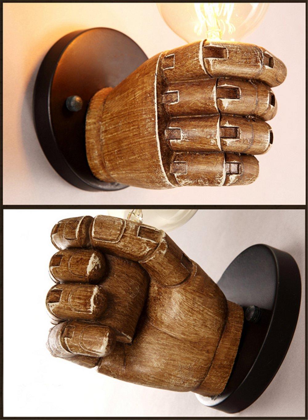 Retro Industrie Design Wandlampe Im Loft Style Esszimmer Vintage Retro  Wohnzimmer Mode Kreative Persönlichkeit Harz Hand Form Wandleuchten,1 X  E27: ...