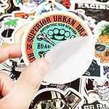 Waterproof Vinyl 50pcs skull Stickers for