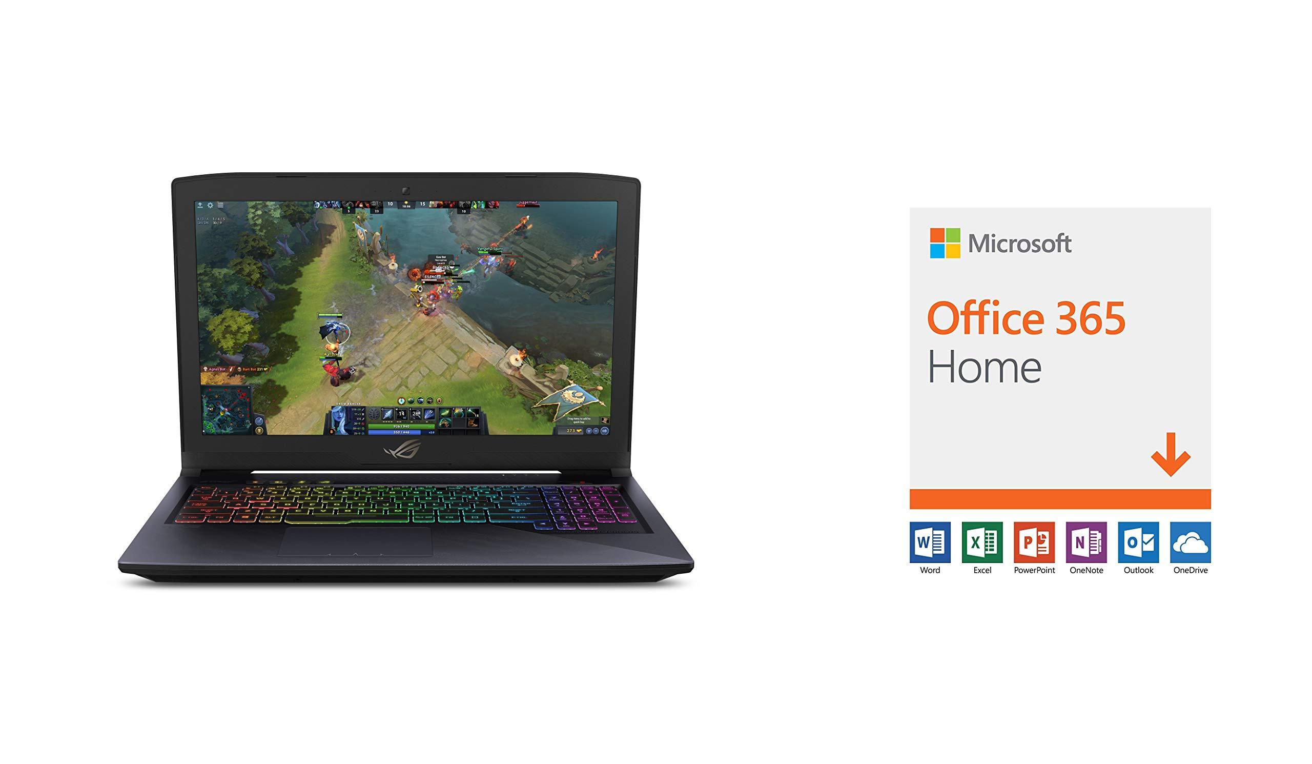 "ASUS ROG Strix Hero Edition Laptop (Windows 10 Home, Intel Core i7-8750H 3.9GHz, 15.6"" Screen, Storage: 1 TB, RAM: 16 GB) Black"