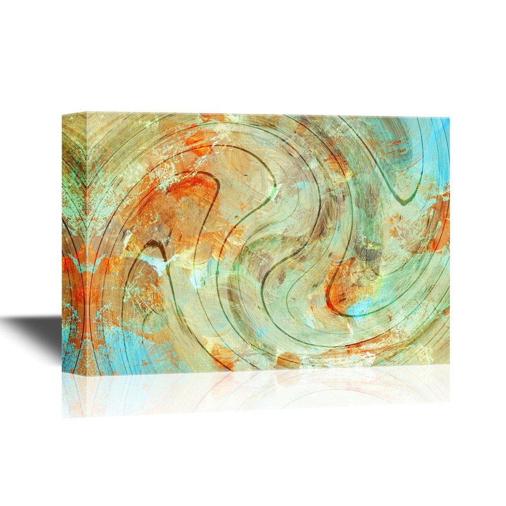 wall26 Canvas Wall Art - Abstract Color Composition - Gallery Wrap ...