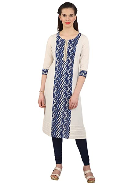 644aa73fa33 Srishti by fbb Women s Beige Plain Festive Kurta  Amazon.in  Clothing    Accessories