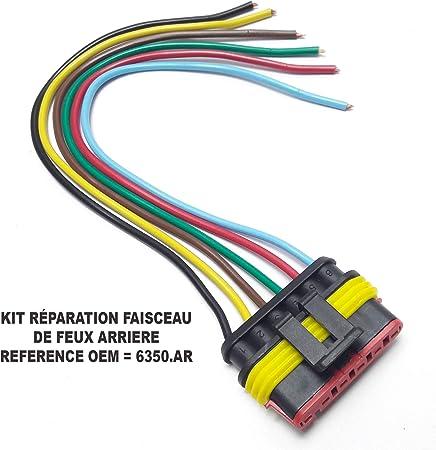 2X KIT Réparation Connectique Feu Arrière Jumper Boxer Ducato 2002-2006 = 6350AR