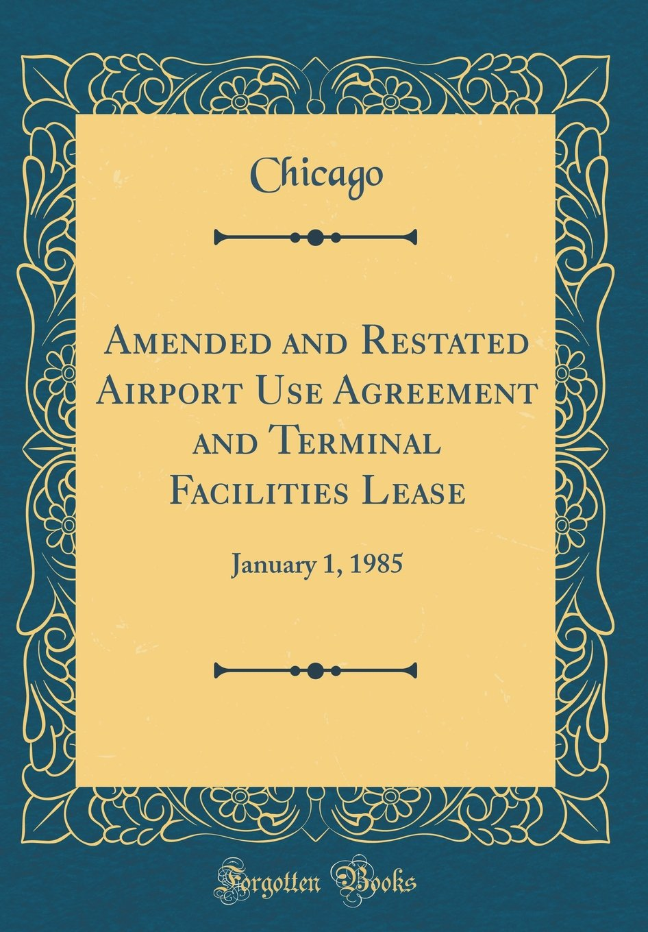 Amended And Restated Airport Use Agreement And Terminal
