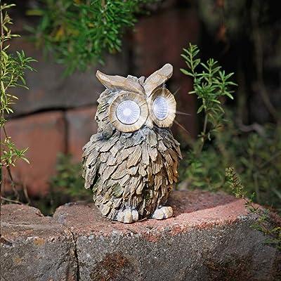 yodaliy Owl Patio Lights | Outdoor Owl Yard Light - Solar Decorative LED Animals for Garden, Balcony, Deck | Weather Resistant | Garden Gift | Auto On/Off : Garden & Outdoor