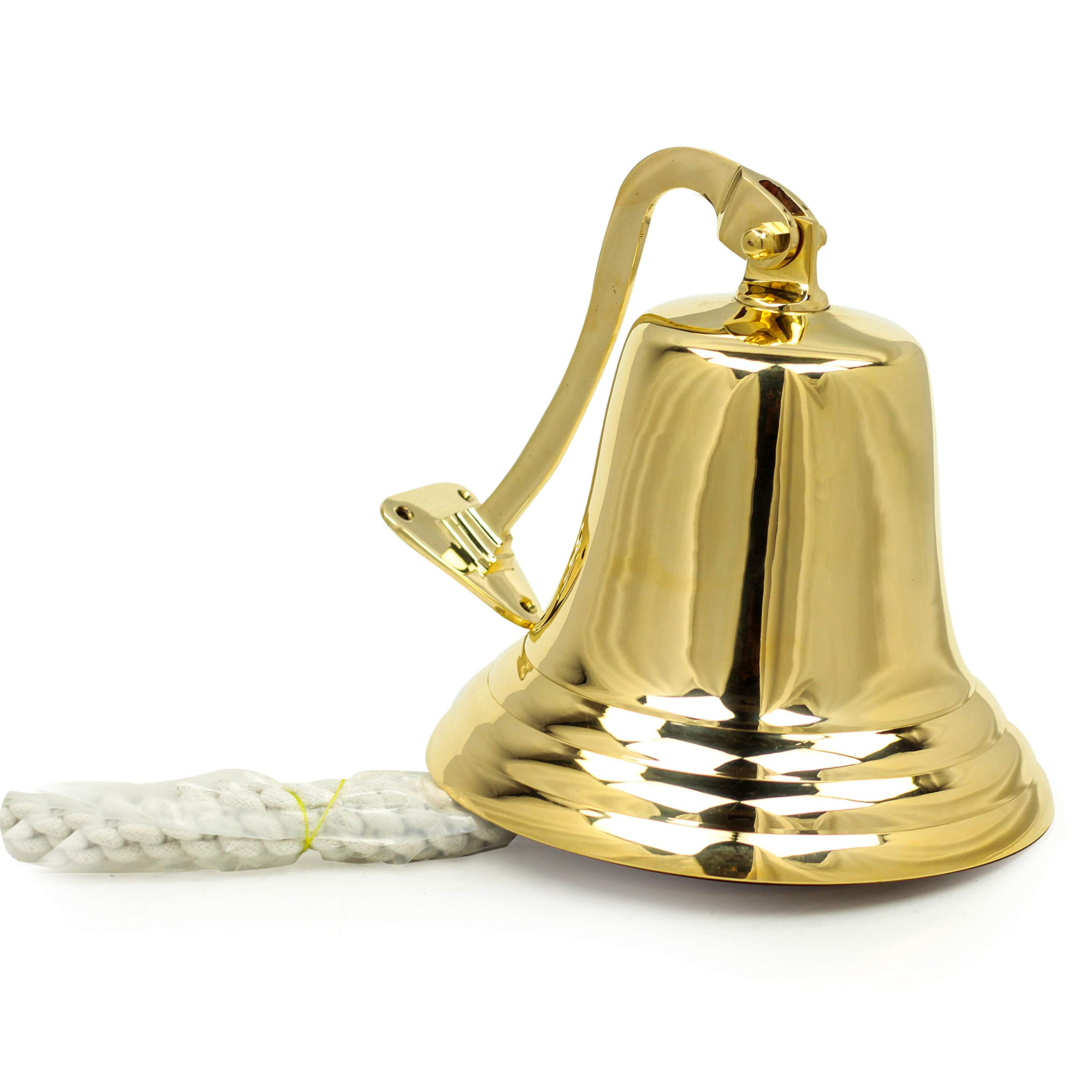"8"" Nautical Brass Maritime Ship Bell"