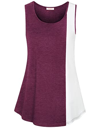 c19831cf858da Baikea Women Summer Sleeveless Casual Tank Tunic Tops in 2 Colors at ...