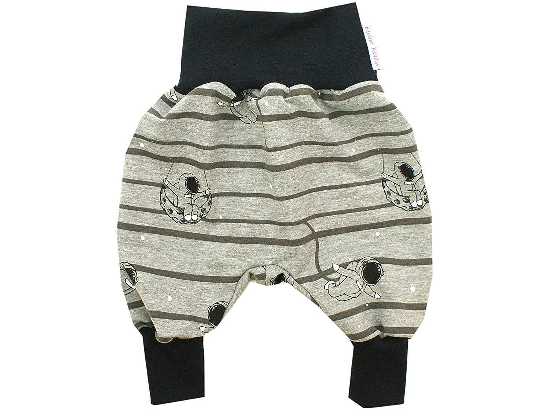 Kleine K/önige Pumphose Baby Sweathose Jungen /· Modell Weltraum Mondlandung schwarz /· /Ökotex 100 Zertifiziert /· Gr/ö/ßen 50-164