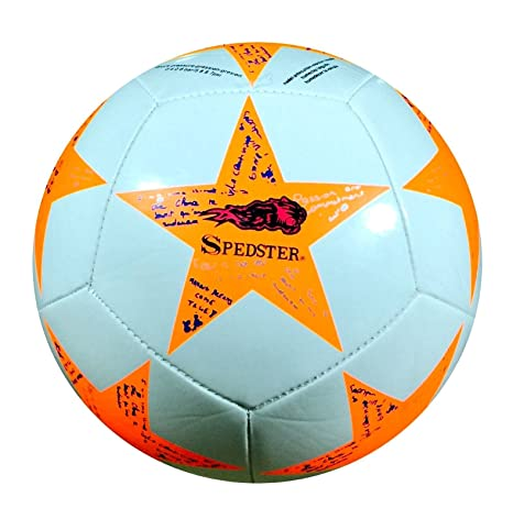 Spedster Champion League - Balón de fútbol (talla 5), Orange ...
