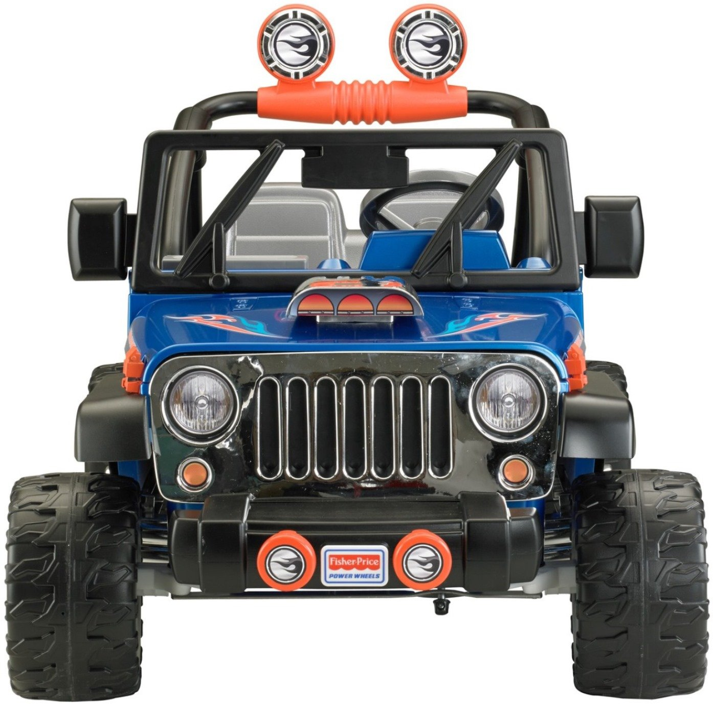 Power Wheels Hot Wheels Jeep Wrangler, Blue (12V) by Power Wheels (Image #3)