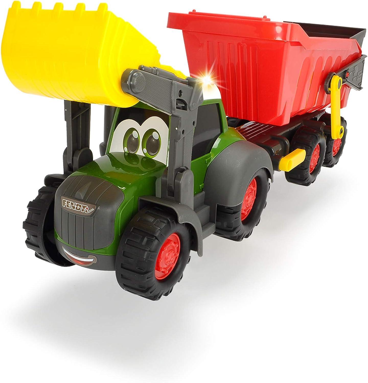 Tractor de 65cm con remolque, luz y sonido (Dickie 3819002)