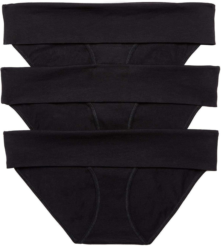 Motherhood Maternity Women's 3 Pack Fold Over Brief Panties