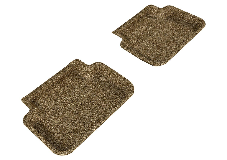 L1AD02722202 Classic Carpet 3D MAXpider Second Row Custom Fit All-Weather Floor Mat for Select Audi A4//S4//RS4 Models Tan