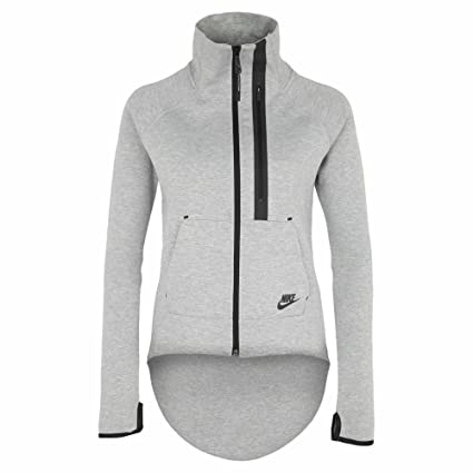 ffa5550e297b Amazon.com  Nike Women s Tech Fleece Full Zip Moto Cape Sweatshirt Grey  Large  Sports   Outdoors