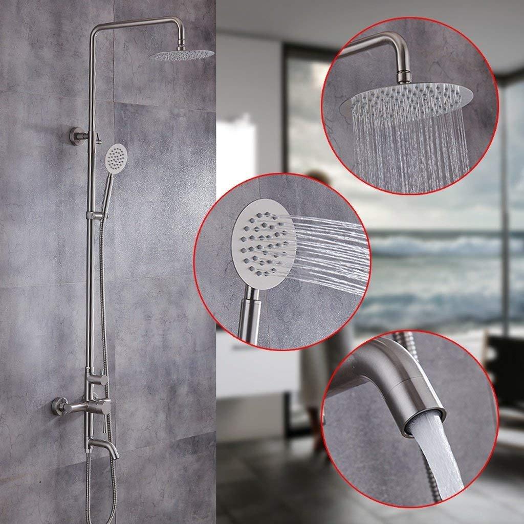 WW El juego de ducha El baño con ducha de acero inoxidable se ...