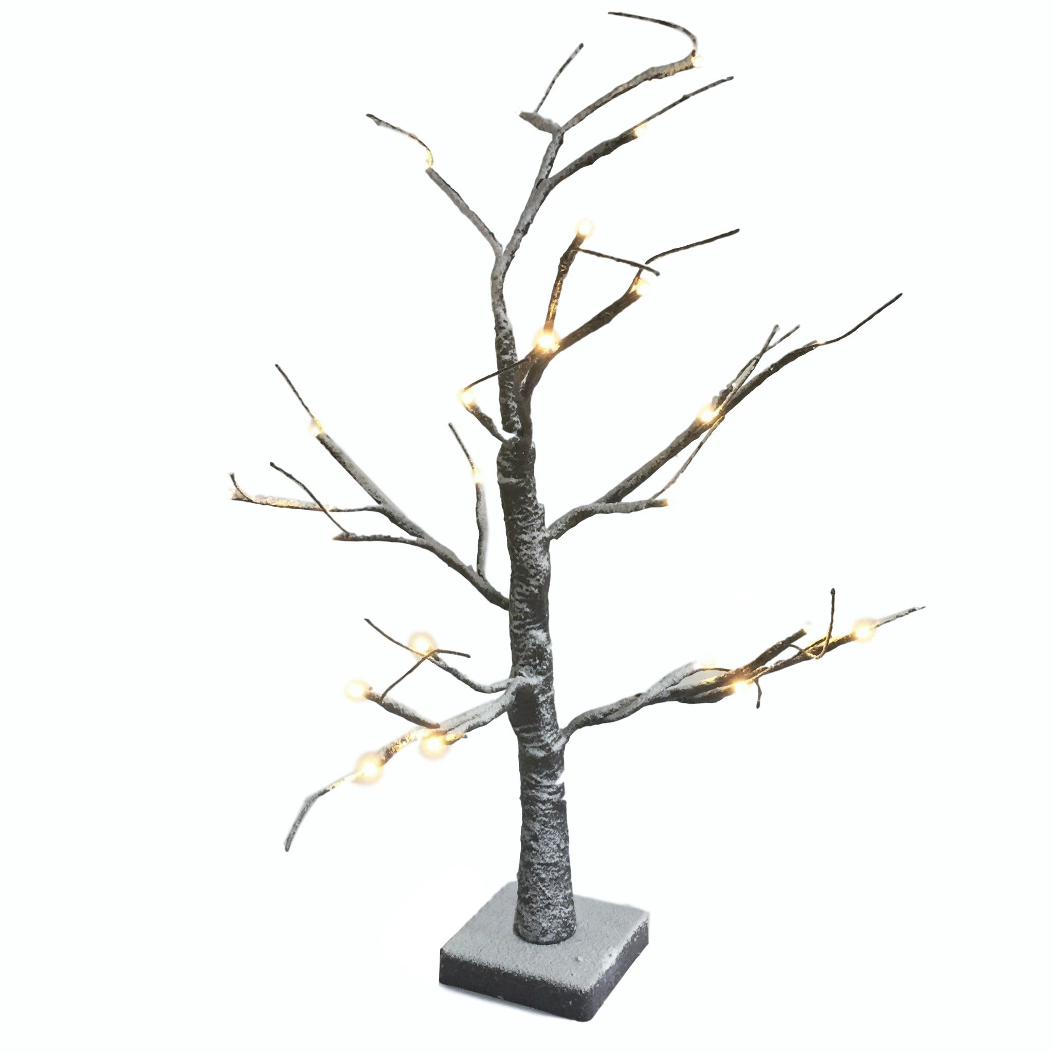 Loui Michel Cie 23226 Snow Covered Lighted Tree, Natural, 24''