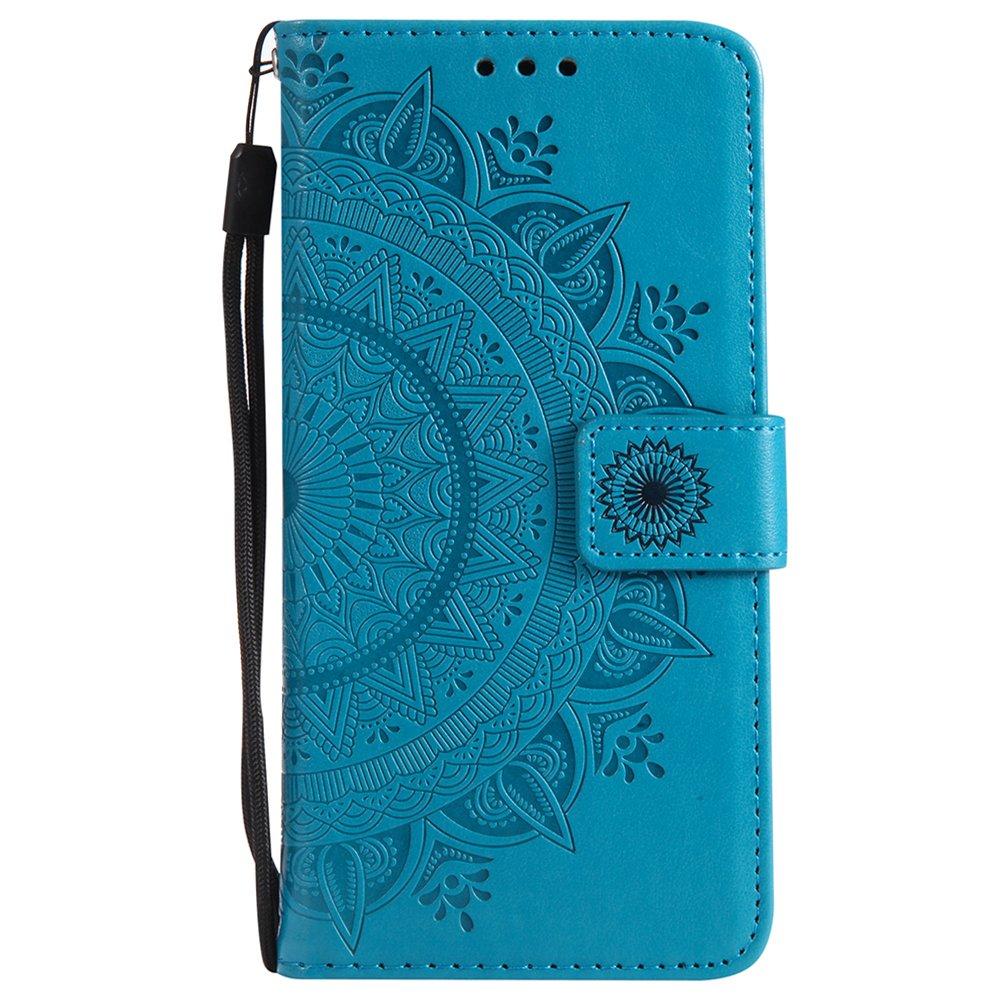 ZCXG Compatibile con Cover Huawei P20 Lite Custodia Portafoglio Donna Cover a Libro PU Pelle Slim Nero Silicone Cover Interno Antiurto Magnetica Stand Flip Cover Case Custodia