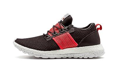 e45e225183a35 adidas Mens Pure Boost ZG Livestock Primeknit Black Crimson-White Fabric  Size 9.5