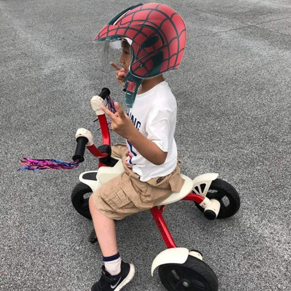 Evin Scooter Casco per Bambini per Bambini Bicicletta Casco del Motociclo 3-8 Anni Ragazzi e Ragazze del Fumetto Leggero Casco 46-52Cm Bambini,Matte