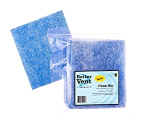 BetterVent Replacement Polyester Filters, 6 pack