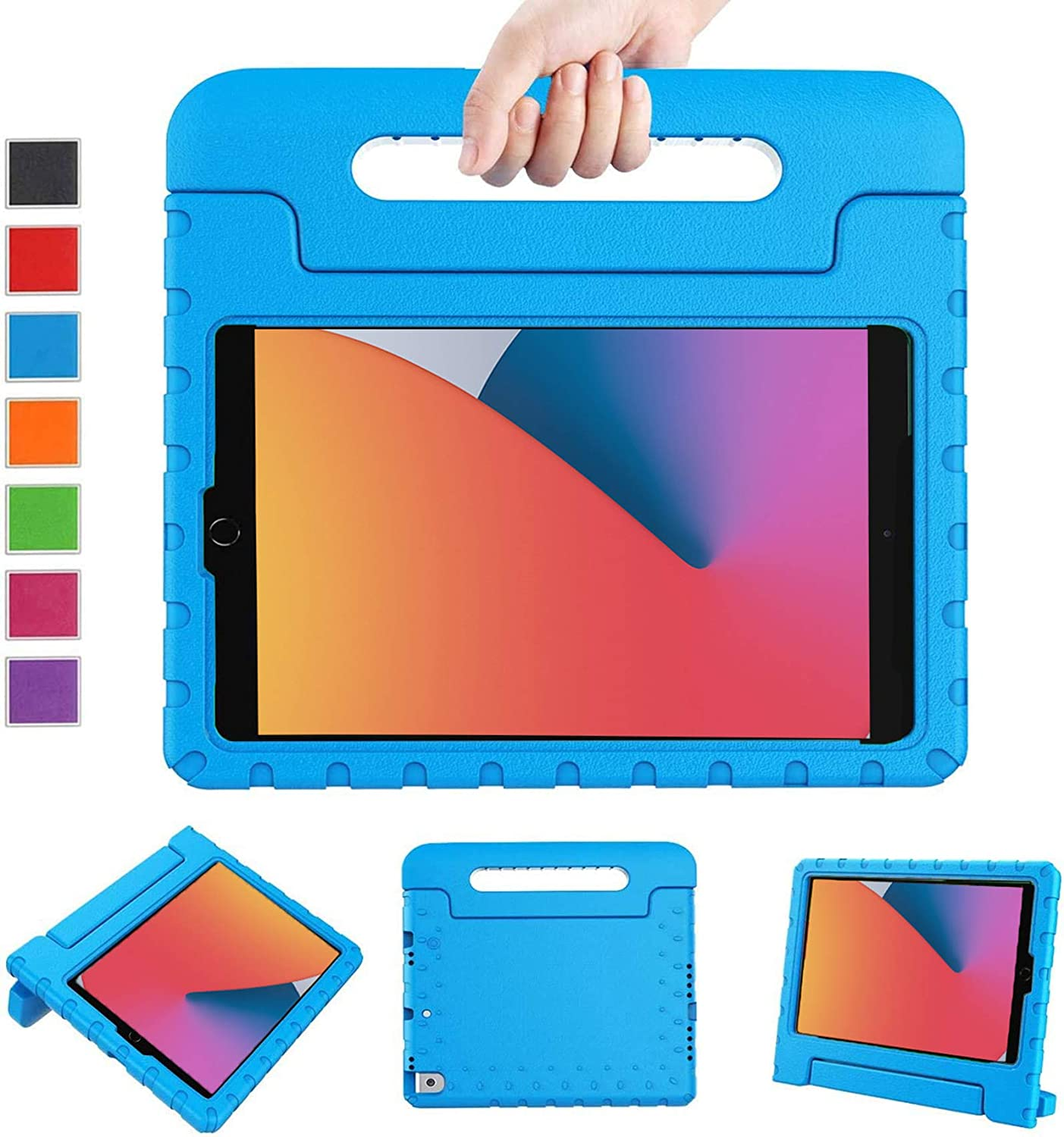LTROP New iPad 8th Generation Case, iPad 10.2 Case, iPad 7th Generation Case for Kids, iPad 10.2 2020 Kids Case Shockproof Light Weight Handle Stand Case for iPad 8th/ 7th Gen 10.2