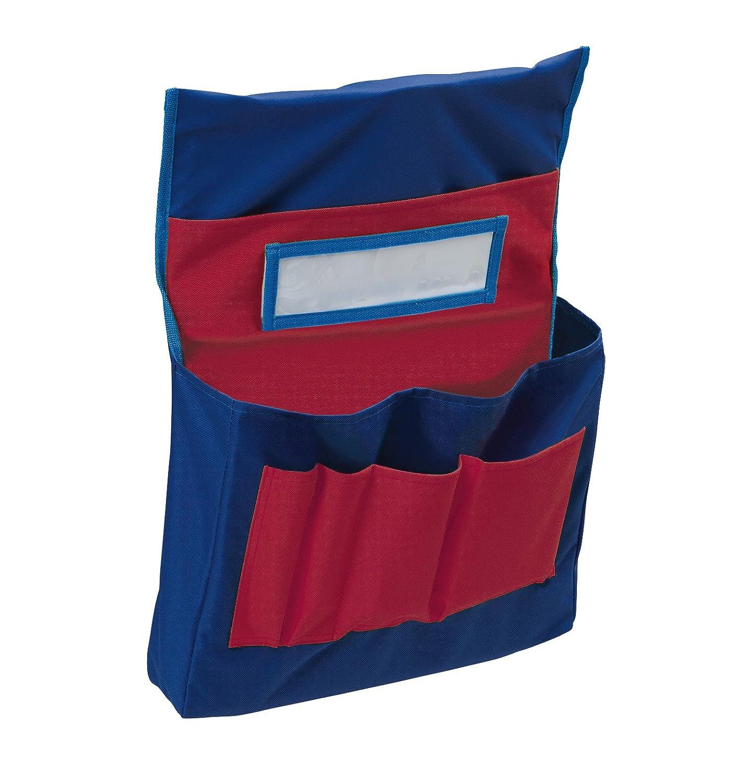 "PaconPocket Chart, Chair Storage, Blue & Red,18-1/2""H x 14-1/2""W x 2-1/2""D, 1 Chart"