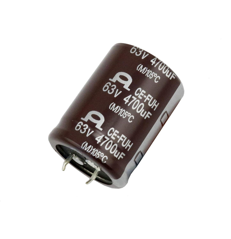 2 St/ück 4700uF 63V Elektrolyt-Kondensator FUH bis 105 /°C Long-Life ESR Endst/ücke Snap-IN Elektrolyt-Kondensatoren
