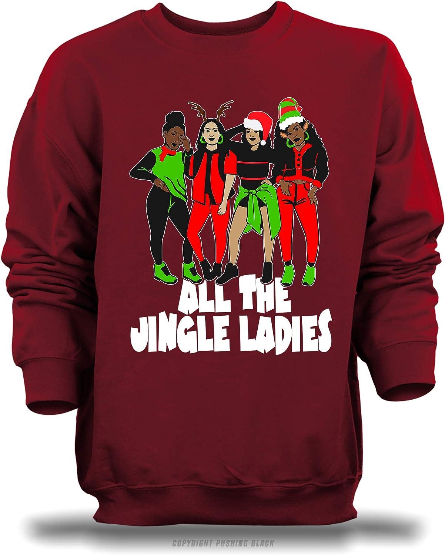 Antique Cherry Red Gildan , 3XL PUSHING BLACK All The Jingle Ladies Unisex Sweatshirt
