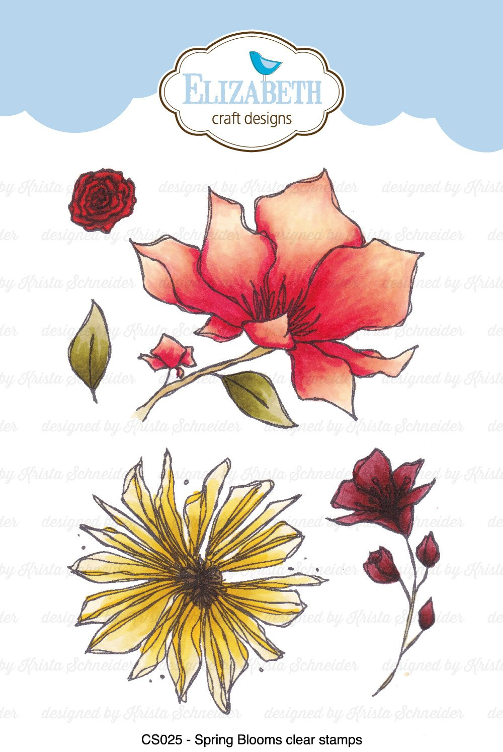 Spring Blooms Clear Stamps