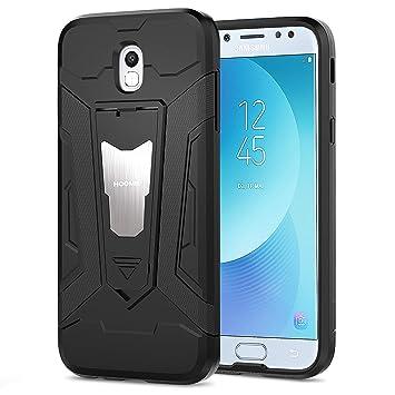 HOOMIL Negro Armor Funda para Samsung Galaxy J5 2017 Carcasa Shock-Absorción Silicona Case - Negro (H3197)