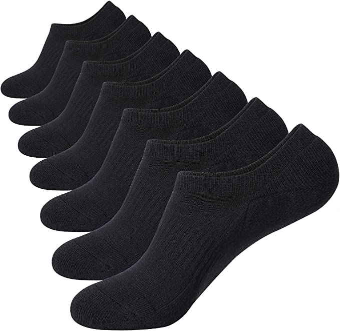 5 10 Pairs Men Casual Cotton Loafer Mesh Non-Slip Invisible Low Cut Socks New