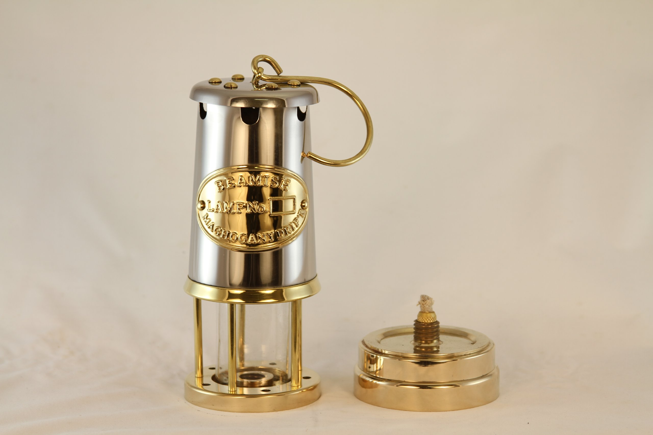 Miners Lamp - Brass & Stainless Steel Yacht Lantern - 9''