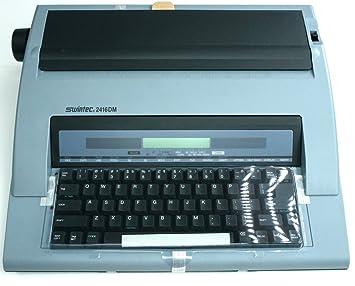 Swintec 2416DM - Máquina de escribir electrónica portátil: Amazon.es: Oficina y papelería