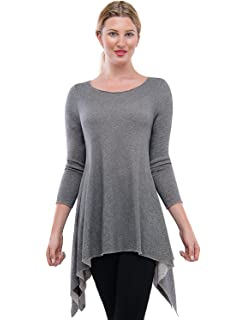 4bb7620dd39 TAM WARE Women s Stylish Long Sleeve French Terry Tunic Top (Made in ...