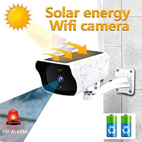 Wireless Solar Outdoor WiFi IP Camera 1080P HD Security Surveillance Audio UK