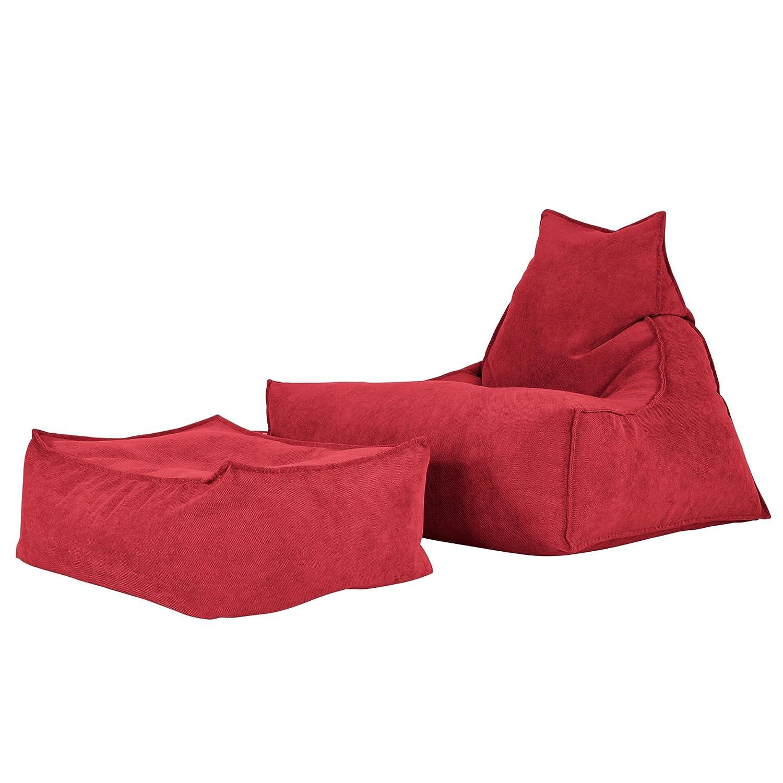 Lounge Pug®, Escabel Gigante, Tejido de Rejilla - Rojo ...