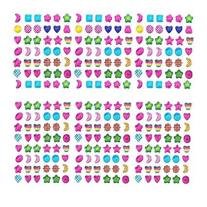 1680 Pieces Hestya Sticker Earrings 3D Gems Sticker Girls Stck on Earrings