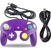 Gamecube Controller, AreMe 1 Pack Classic Wired Controller with Extension Cable for Nintendo Wii Gamecube GC Console (Purple)