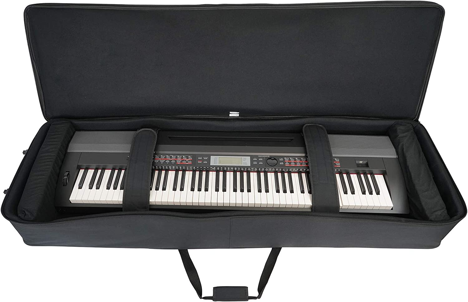 Rockville 76 Key Keyboard Case w// Wheels+Trolley Handle For Korg TRITON LE 76