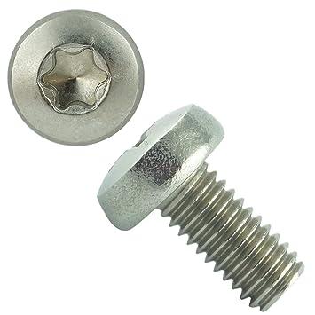 Edelstahl DIN 7985 M2,5 x 20 mm Torx 10 Linsenschrauben 10 Muttern 10 U-Scheiben