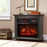 XtremepowerUS 1500W Infrared Quartz Electric Fireplace Heater Freestanding Timer with Remote Controller Wheel