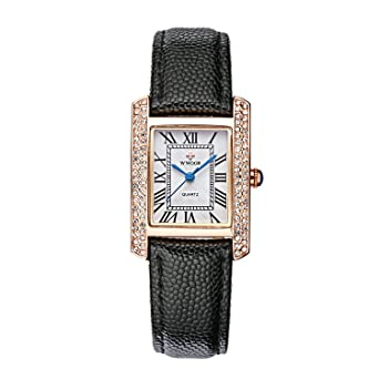 Damen Luxus Marke Uhr Damen Fashion Casual Echtes Leder Uhren