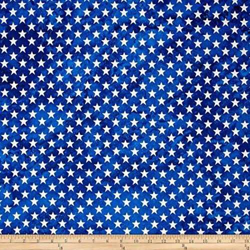 Fabri-Quilt 0459093 Marblehead Valor Straight Stars Blue Fabric