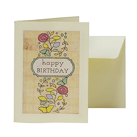 Amazon Hand Painted Durable Papyrus Greeting Card Roses