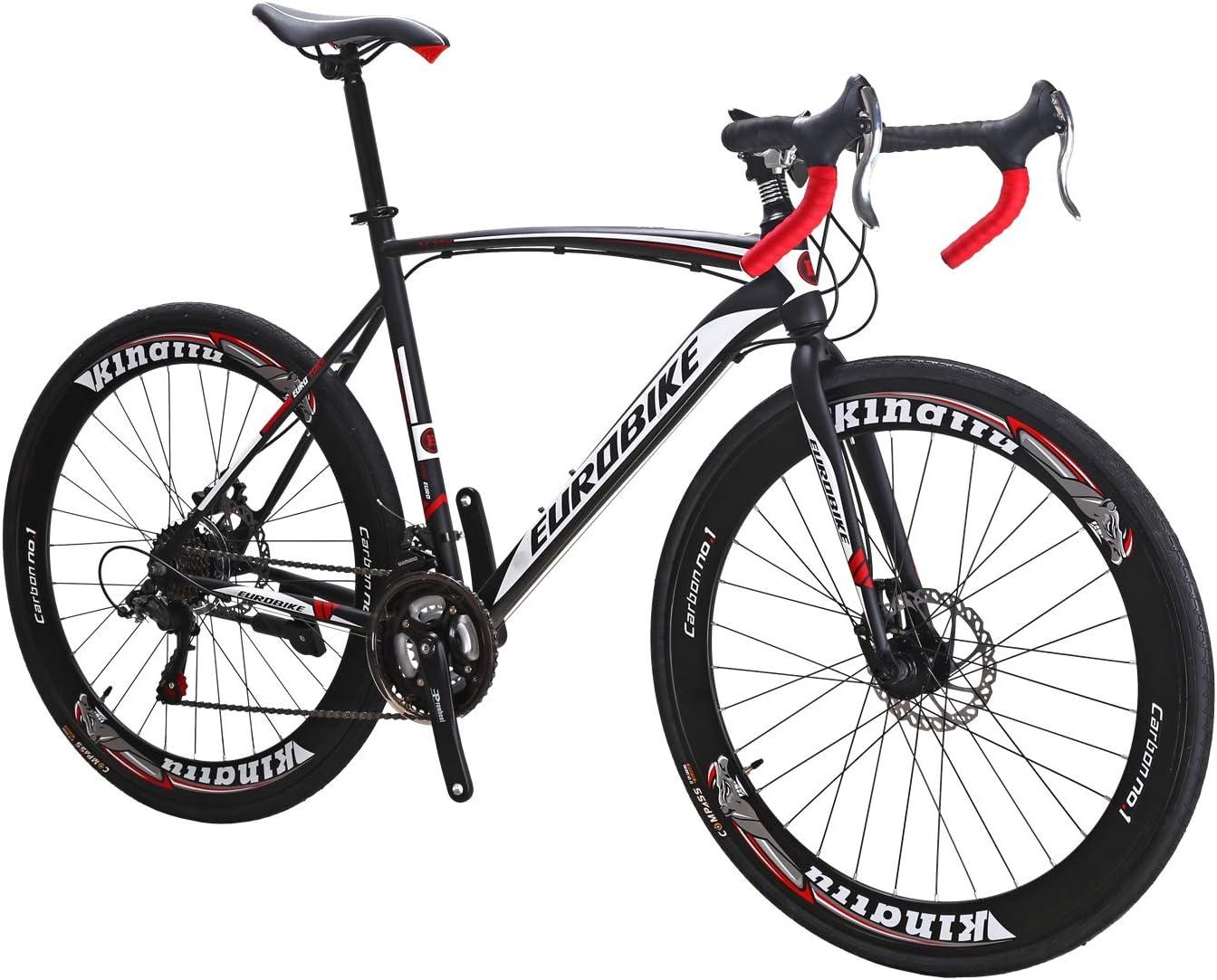 EUROBIKE XC550 ロードバイク自転車 700C 変速21速 ディスクブレーキ 自転車 ロード