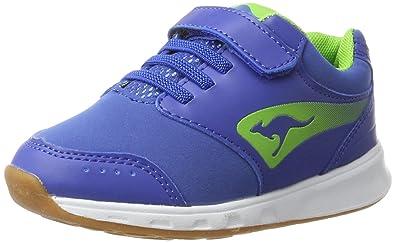 KangaROOS Unisex-Kinder Rodo V Low-Top, Blau (Dk Navy/Lime), 36 EU