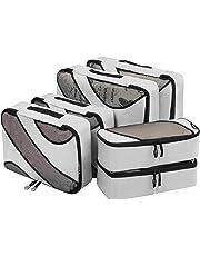 6 Set Packing Cubes,3 Various Sizes Travel Luggage Packing Organizers (Grey)