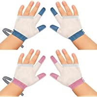 2 Pairs Baby Stop Thumb Sucking Finger Guard Kid Infant Stop Thumb Sucking Kit Stop Finger Sucking Glove No Scratch…