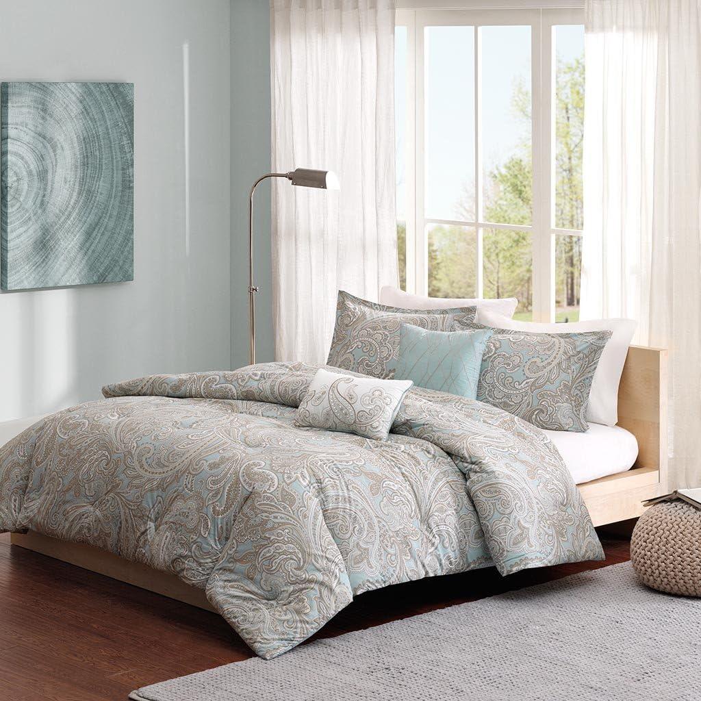 Madison Park MPP10-002 Pure Ronan Cotton Comforter Set Cal King Blue, King King