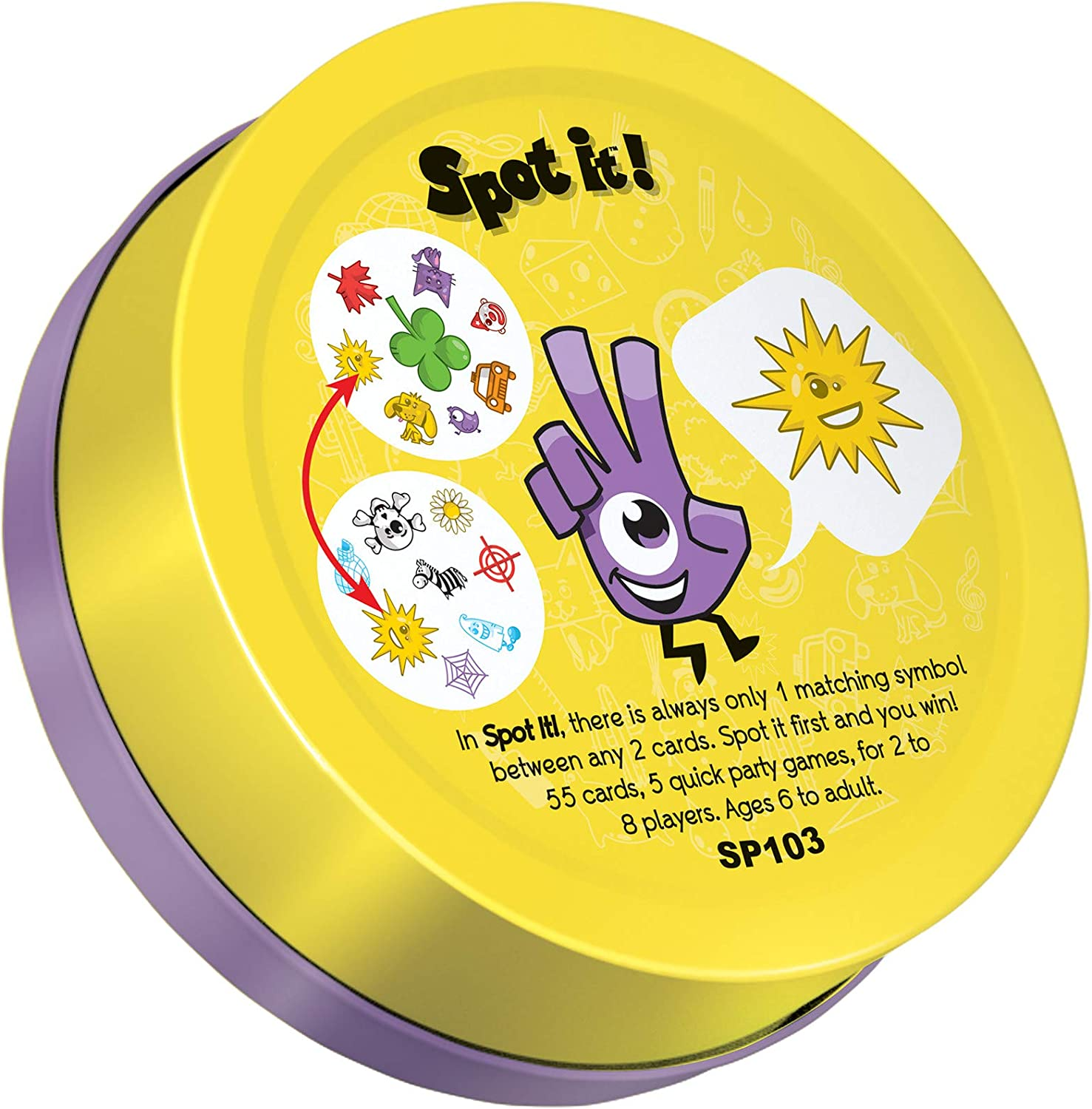 Classic Dobble Card GameFun Kids /& Family Party Game 6yrs Spot it Adult