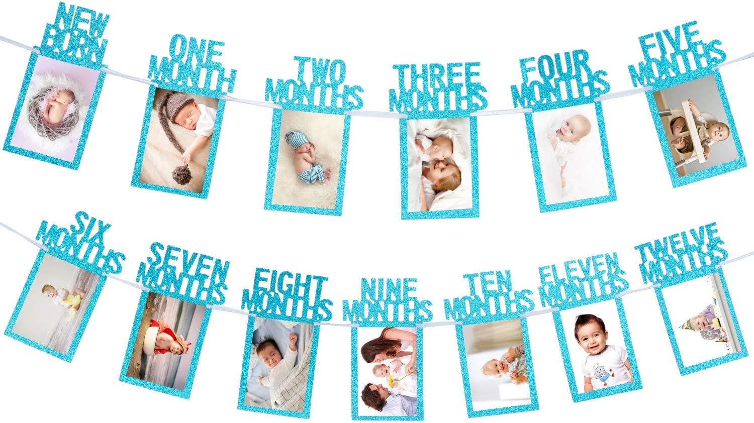 Birthday Banner Monthly Picture Banner 1st Birthday Photo Banner Baby Birthday Banner One Year Photo Banner First Year Photo Banner